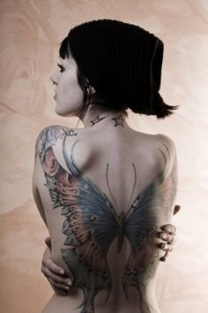 butterfly tatto by aurelisabel