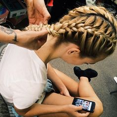 For those days when u want two French braids and only have one hair tie!!!!