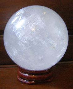 From 9.69 40mm (90g) Tibetan Natural Clear Quartz Crystal Ball Sphere On Wooden Display Stand Reiki Healing - Item Images Are Taken Close Up (magnified) please Carefully Check Dimensions In Listing