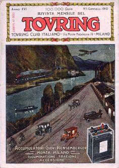 RIVISTA DEL TOURING CLUB ITALIANO - Gennaio 1910: Hensemberger accumulatori Monza