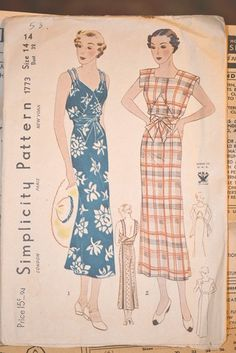 Simplicity 1773, Vintage Wrap Dress Pattern