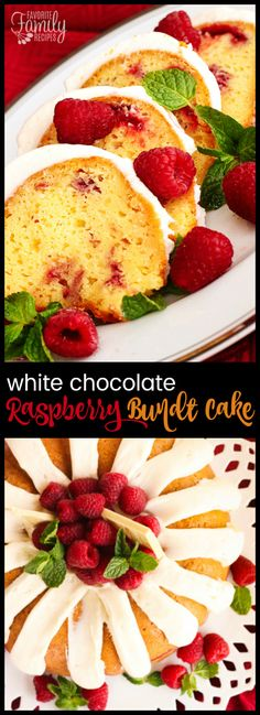 This Nothing Bundt Cakes White Chocolate Raspberry Cake Copycat is oh so good! The creamy frosting and moist cake tastes just like the original! via @favfamilyrecipz