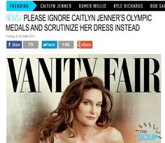 Once Bruce Jenner now reveals herself as Caitlyn Jenner. You ROCK, Caitlyn. Open the door for others struggling with gender identity!!