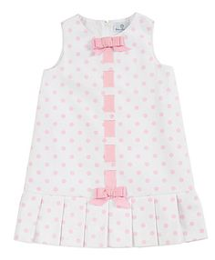 Florence Eiseman White/Pink Dots Pique Sleeveless Dress for Girls Baby Dresses, Girls Dresses, Girl Outfits, Swimsuits, Stylish, Cute, How To Make, Diy, Crafts