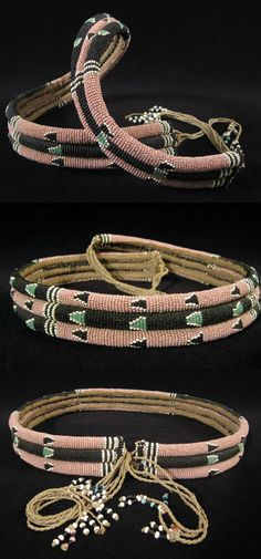Africa | Dance belt from the Zulu people of South Africa | Glass beads, fiber | Early to mid 20th century