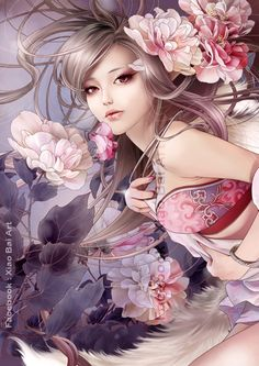 ☆ Artist Zhang Xiao Bai ☆  #anime girl illustration