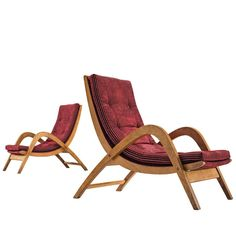 Very Rare and Very Large Lounge Chairs by Neil Morris for H. Morris, Scotland | From a unique collection of antique and modern Chairs at https://www.1stdibs.com/furniture/seating/chairs/.
