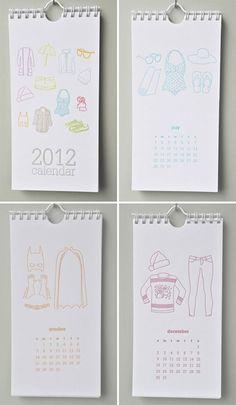 Impressed Design 2012 calendar