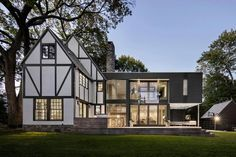 Tudor Style House with Modern Addition Tudor House, Tudor Style Homes, Rural House, Prefab Homes, Traditional House, Old Houses, Small Houses, Home Renovation, Exterior Design