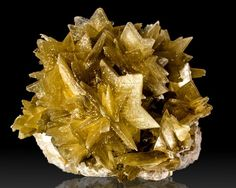 Golden Yellow Star MIca Crystals from Brazil