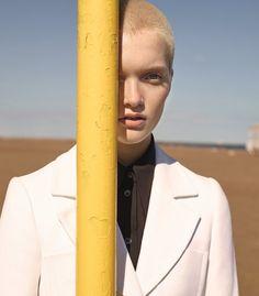 Publication: T Magazine November 2015. Model: Ruth Bell. Photographer: Karim Sadli. Fashion Editor: Jonathan Kaye. Hair: Damien Boissinot. Make-up: Lauren Parsons.