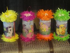 My little Pony Birthday Party Mini Pinatas by Sweetladybug5Pinatas, $1.85