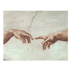 Hands of God Canvas Art by Michelangelo - BL0668-C1824GG
