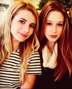 ahs emma roberts and taissa farminga
