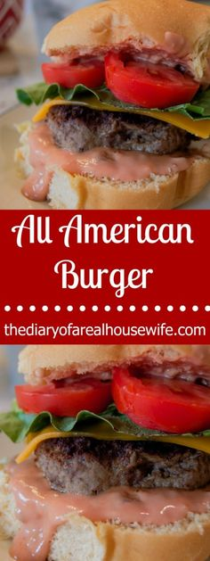 The All American Burger. Really the ONLY burger that I needed this summer. I love the homemade sauce it really makes the entire burger.