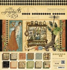 Vintage! Feathers! Love the colors. This makes me so happy! Olde Curiosity Shoppe has the rich colors and images to make any project complete! #graphic45