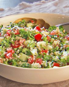 This simple Mediterranean salad takes little time to make and is extremely healthy. Serve this as a side dish or a sandwich filling