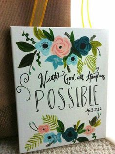 canvas painting ideas with bible verses - bible verse painting Bible Verse Painting, Bible Verses Quotes Inspirational, Quotes Quotes, Little Presents, Paint Party, Crafty Craft, Islamic Quotes, Painting Inspiration, Inspiration Quotes