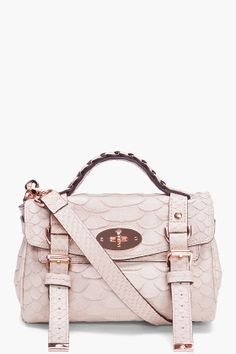 MULBERRY //    Pale Pink Mini Alexa Bag
