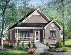 Stone Cottage House Plan: 953 sq ft