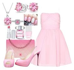 """""""Pink fashion"""" by welove0104 on Polyvore featuring Carven, Chanel, Christian Louboutin, HoneyBee Gardens, Nails Inc., Bling Jewelry and BERRICLE"""