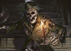 magic the gathering skeletons | Manor Skeleton | Art by Eric Deschamps