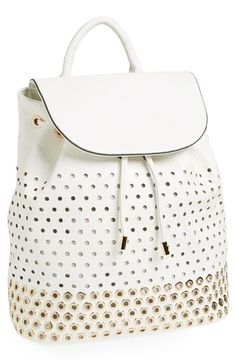 Expressions NYC Perforated Faux Leather Backpack available at ...