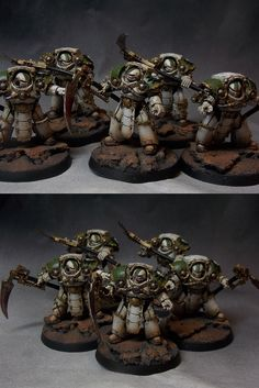 Space Marine Death Shroud Terminators of the Pre Heresy Death Guard Chapter