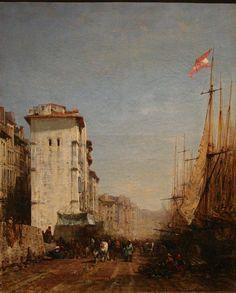 Félix ZIEM (1821-1911)  - Quai du port à Marseille - Musée des beaux-arts de Marseille