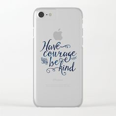Have Courage and Be Kind (navy colorway) Clear iPhone Case by Noonday Design. Worldwide shipping available at Society6.com. Just one of millions of high quality products available.