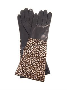 Calf hair and leather gloves | Diane Von Furstenberg | MATCHES...