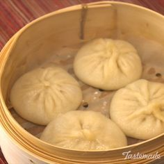 """These soup dumplings will make you wonder, """"To slurp or not to slurp?"""" Save the recipe on our app! http://link.tastemade.com/HE7m/H1wHe4m2mA"""