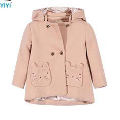 2016 Baby Girls Autumn Winter Wool Coat Fashion Warmly Gentle Kids Wool Blends…