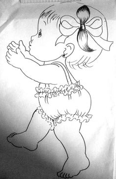 Adult Coloring, Coloring Books, Coloring Pages, Baby Clip Art, Bird Cards, Christmas Sewing, Cute Little Girls, Pictures To Draw, Embroidery Applique