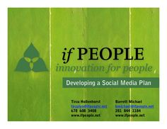 f1dfca674f Developing a Social Media Plan by ifPeople via slideshare Social Networks