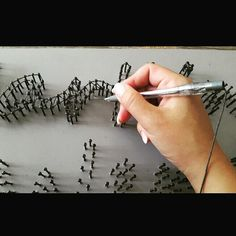 String Art tip: Use a empty pen! Pull the string through, and you can make figures that are difficult to do with just the string.