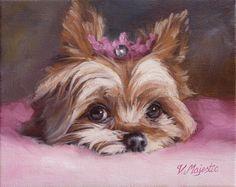 Yorkshire Terrier Princess dog, 8x10 Yorkie puppy art PRINT, enchanted fairy tale animal pet by Viktoria Majestic on Etsy