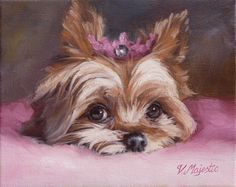 Yorkshire Terrier Princess dog, 8x10 Yorkie puppy art PRINT, enchanted fairy tale animal pet by Viktoria Majestic on Etsy