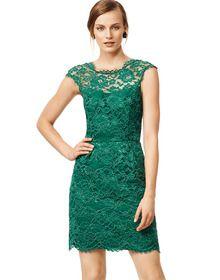 Green Sleeveless Backless Lace Dress US$22.79