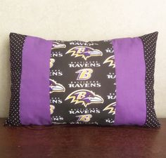 Baltimore Ravens Pillow by yellowroseaccents on Etsy, $28.95