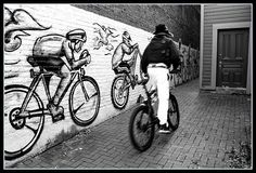 bicycle murals! bicycles