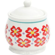 Flea Market sugar bowl jar set will add a level of gentle whimsy to all your  sc 1 st  Pinterest & Canopy beaded white dinnerware. Simple inexpensive and holds up ...