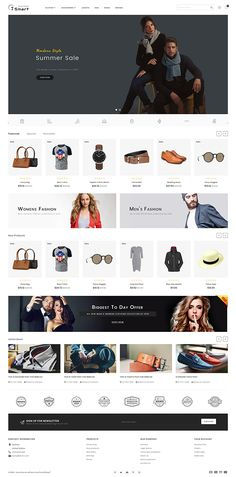 7 Smart – The Smart Store Template - Blackfriday Design Ecommerce Website Design, Website Design Layout, Web Design, Graphic Design, Theme Forest, Electronic Gifts For Men, Ui Design Inspiration, Design Ideas, Photoshop