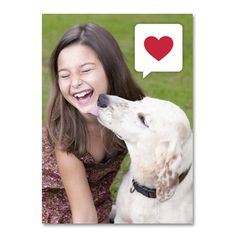 There's nothing better than a #smooch from your pooch! #InkCards #Valentine