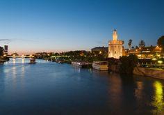 View of river Guadalquivir in Seville  www.buziosglobal.com