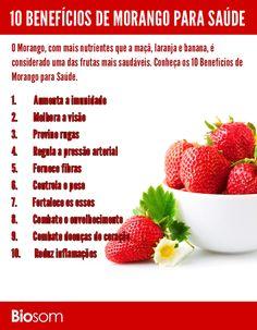 10 benefícios de morango para a saúde infográfico