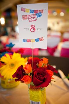 Mexican wedding table numbers