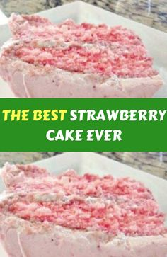 There are several means to place a finishing touch in your own cake decorating job. Employing these things allow you to liven up a plain cake. Homemade Strawberry Cake, Strawberry Cake Recipes, Strawberry Pound Cakes, Strawberry Cake From Scratch, Strawberry Birthday Cake, Fresh Strawberry Cake, Just Desserts, Delicious Desserts, Dessert Recipes