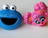 12 Abby Cadabby from Sesame Street Cupcake Topper Rings by Catalu