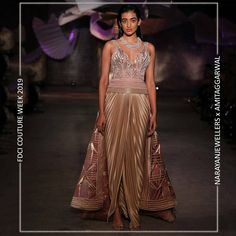 """Narayan Jewellers delightfully launched the new bridal collection in association with ace Designer Amit Aggarwal for """"Lumen"""" Couture 2019 at fdciofficial. Couture Week, Fashion Show, Fashion Design, Bridal Collection, Runway, Product Launch, Indian, Jewels, Formal Dresses"""